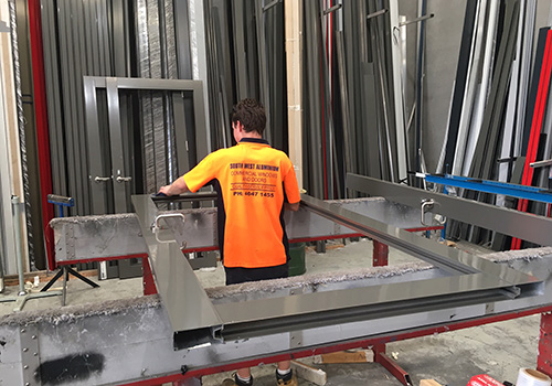 The manufacture of Commercial Windows and Doors